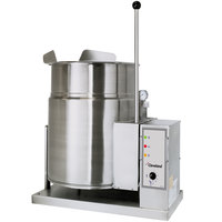 Cleveland KGT-6-T Natural Gas 6 Gallon Tilting 2/3 Steam Jacketed Tabletop Kettle - 34,000 BTU