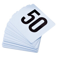 1 to 50 Plastic Table Number