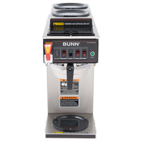 Bunn 12950.0410 CWTF-DV Automatic 12 Cup Coffee Brewer with 2 Upper Warmers, 1 Lower Warmer, and Stainless Steel Funnel - Dual Voltage