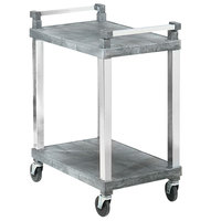 Vollrath 97101 2 Shelf Utility Cart with Chrome Uprights - 200 lb. Capacity