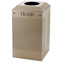 Rubbermaid FGDCR24TDP Silhouettes Desert Pearl Designer Recycling Receptacle - Trash 29 Gallon