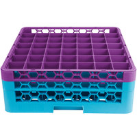 Carlisle RG49-2C414 OptiClean 49 Compartment Lavender Color-Coded Glass Rack with 2 Extenders
