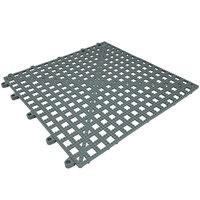 Cactus Mat Dri-Dek 2554-ET Gray 12 inch x 12 inch Interlocking Vinyl Drain Tile Corner Piece - 9/16 inch Thick