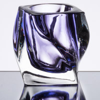 Sterno Products 80252 4 inch Purple Twist Glass Candle Holder