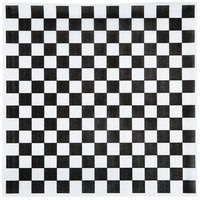 Choice 15 inch x 15 inch Black Check Deli Sandwich Wrap Paper - 1000/Pack