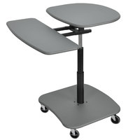 Luxor / H. Wilson LAMC3037 Mobile Computer Cart with Adjustable Height - Gray