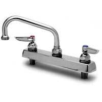 T&S B-1122 Deck Mounted Workboard Faucet with 8 inch Centers - 10 inch Swing Nozzle