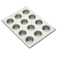 12 Cup Aluminized Steel Cupcake / Muffin Pan 3.8 oz. 13 inch X 18 inch