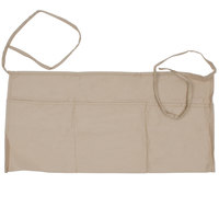 Choice 24 inch x 12 inch Khaki Front of the House Waist Apron