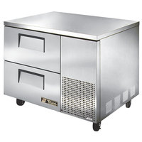 True TUC-44D-2 44 inch Extra Deep Undercounter Refrigerator with Two Drawers