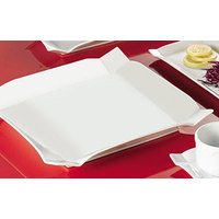 CAC TMS-6 Times Square 6 inch Bright White Square China Plate - 36/Case