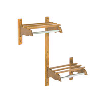 CSL TJFADA-36-L 36 inch ADA Series Light Oak Hardwood Top Bars Wall Mount Coat Rack with 1 inch Hanging Rod