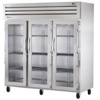 True STA3R-3G Specification Series 77 inch Three Glass Door Reach In Refrigerator - 85 Cu. Ft.