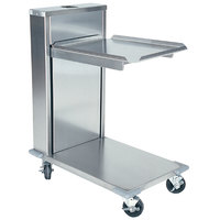 Delfield CT-2020 Mobile Cantilevered Tray Dispenser for 20 inch x 21 inch Food Trays