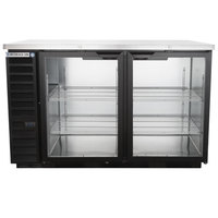 Beverage Air BB58HC-1-G-B 59 inch Back Bar Refrigerator with 2 Glass Doors 115V