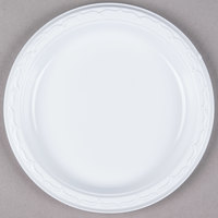Genpak 70700 Aristocrat 7 inch White Premium Plastic Plate - 1000/Case