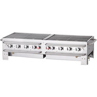 Crown Verity PCB-60-SI 60 inch Stackable Portable Grill with Single Inlet