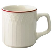 Homer Laughlin Red Jade 8 oz. Off White China Mug - 36/Case