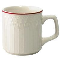 Homer Laughlin Red Jade 8 oz. Off White China Mug - 36/Case