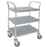 Advance Tabco UC-3-2433 Stainless Steel 3 Shelf Utility Cart - 40 1/2 inch x 24 inch x 38 1/8 inch