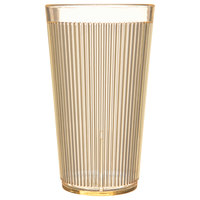 Carlisle 403422 16 oz. Yellow Crystalon RimGlow Polycarbonate Tumbler - 48/Case