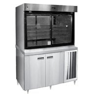 Delfield F15SC72NV 72 inch Narrow Depth Refrigerated Display Case with Storage Base and See-Through Back