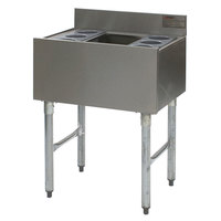 Eagle Group B3CT-12D-22-7 36 inch Underbar Cocktail / Ice Bin with Post-Mix Cold Plate and Eight Bottle Holders