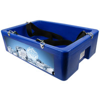 Blue Multi Purpose Hawker Beverage Merchandiser with Harness