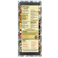 4 1/4 inch x 11 inch Menu Solutions ALSIN41-ST Single Panel Swirl Finish Aluminum Menu Board with Top and Bottom Strips