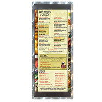 4 1/4 inch x 11 inch Menu Solutions ALSIN41-ST Alumitique Single Panel Swirl Finish Aluminum Menu Board with Top and Bottom Strips