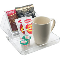 Cal-Mil 490 Clear Acrylic Coffee Amenity Tray