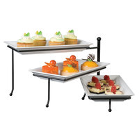 American Metalcraft TTMEL3 Folding Three-Tier Stand with Melamine Platters
