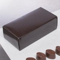 5 1/2 inch x 2 3/4 inch x 1 3/4 inch 1-Piece 1/2 lb. Brown Candy Box   - 250/Case