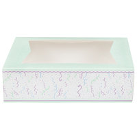 Southern Champion 2446 14 inch x 10 inch x 4 inch Auto-Popup Window Cake / Bakery Box with Confetti Design - 100/Bundle