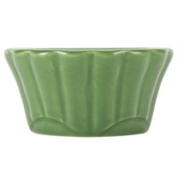 CAC RMK-F4G Festiware 4 oz. Green China Floral Ramekin - 48/Case