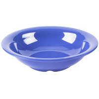GET B-167-PB Diamond Mardi Gras 16 oz. Peacock Blue Melamine Bowl - 24/Case