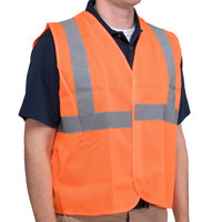Orange Class 2 High Visibility Surveyor's Safety Vest with Hook & Loop Closure - Medium