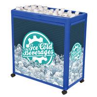 IRP Blue Avalanche 300 Mobile 112 Qt. Cooler Merchandiser