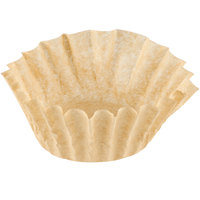 9 3/4 inch x 4 1/2 inch Unbleached Natural Coffee Filter 12 Cup - 1000 / Case