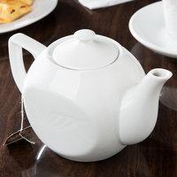 CAC RSV-TP Roosevelt 15 oz. Super White Porcelain Tea Pot with Lid - 36/Case