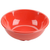 Thunder Group CR5807RD Orange 32 oz. Melamine Salad Bowl - 12/Case