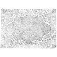 10 inch x 14 inch Silver Foil Lace Doily - 1000/Case