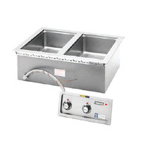 Wells MOD200TD Insulated Two Compartment Drop-In Hot Food Well with Thermostatic Controls and Drains - 208/240V