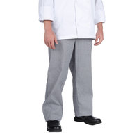 Chef Revival P034HT Size M Houndstooth Chef Trousers - Poly-Cotton