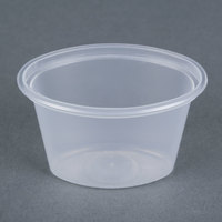 Newspring E1001 ELLIPSO 1 oz. Clear Oval Plastic Souffle / Portion Cup   - 1000/Case