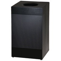 Rubbermaid FGSC18EPLTBK Silhouettes Black Steel Designer Waste Receptacle - 40 Gallon