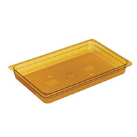 Amber Cambro 12HP150 H-Pans 2 1/2 inch Deep Full Size High Heat Food Pan