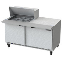 Beverage-Air SPE60HC-12M 60 inch 2 Door Mega Top Refrigerated Sandwich Prep Table
