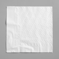 Choice 16 inch x 16 inch WrapNap White 1/4 Fold 2-Ply Dinner Napkin - 250/Pack