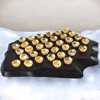 GET ML-384-BK Stone-Mel Melamine Display - 25 1/2 inch x 20 1/2 inch